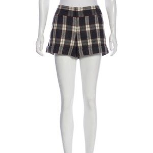 Alice + Olivia Plaid Wool Shorts